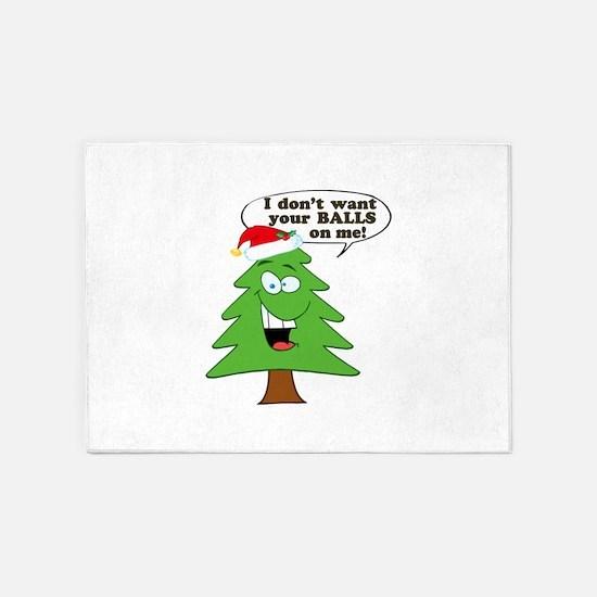 Christmas Tree Harassment 5'x7'Area Rug