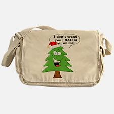 Christmas Tree Harassment Messenger Bag