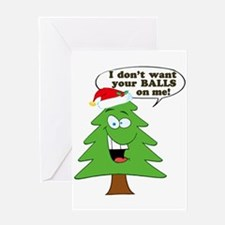 Christmas Tree Harassment Greeting Cards