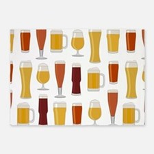 Beer Lover Print 5'x7'Area Rug