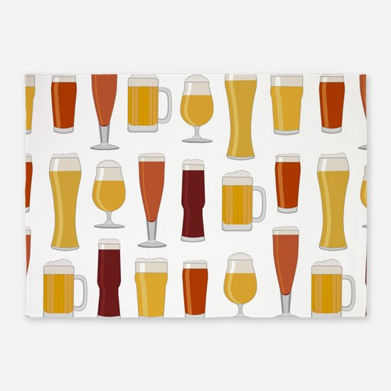 Beer Lover Print 5'x7'Area Rug