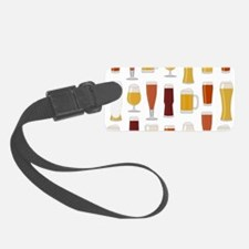 Beer Lover Print Luggage Tag