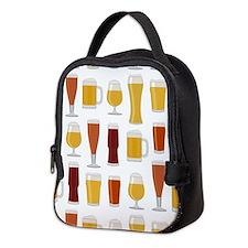 Beer Lover Print Neoprene Lunch Bag