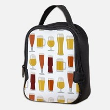 Beer Lover Print Neoprene Lunch Bag