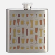 Beer Lover Print Flask