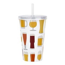 Beer Lover Print Acrylic Double-wall Tumbler