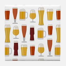 Beer Lover Print Tile Coaster
