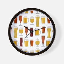 Beer Lover Print Wall Clock