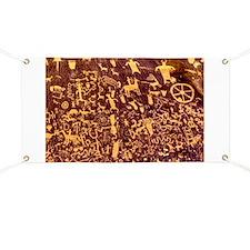 Newspaper Rock Petroglyph Ancient Art Banner