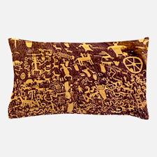 Newspaper Rock Petroglyph Ancient Art Pillow Case