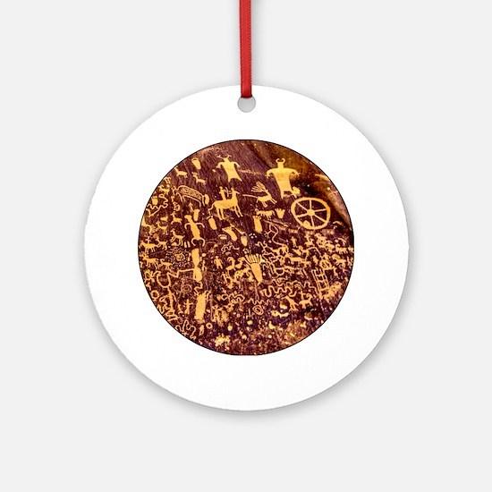 Newspaper Rock Petroglyph Ancient Art Ornament (Ro