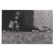 A Bottle and Cigarettes Poster