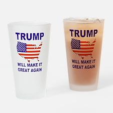 Trump will make it great again Drinking Glass