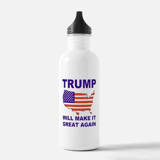 Trump will make it great again Water Bottle