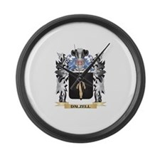 Dalzell Coat of Arms - Family Cre Large Wall Clock