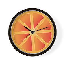 Orange Clockwork Wall Clock