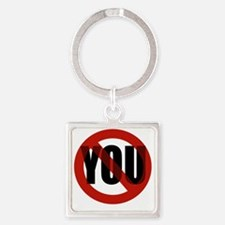 Antisocial - No You Square Keychain