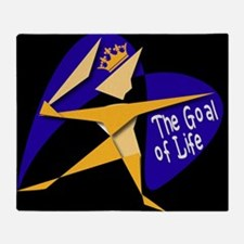 THE GOAL OF LIFE Throw Blanket