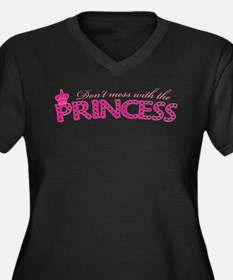 dontmesswithprincess.png Women's Plus Size V-Neck