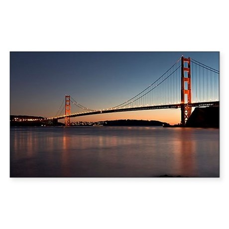 Golden Gate Bridge Rectangle Sticker