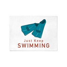 Just Keep Swimming 5'x7'Area Rug