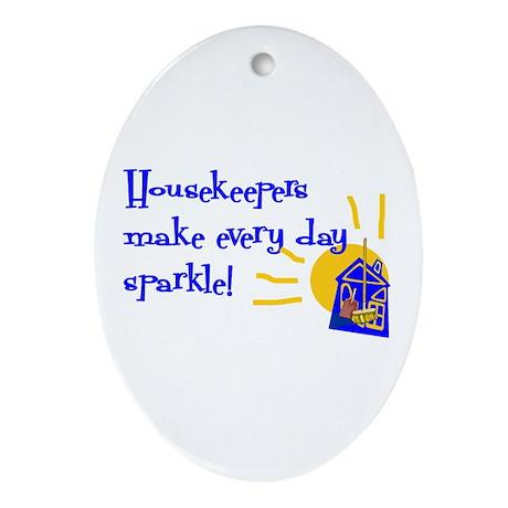 Housekeeper Appreciation Oval Ornament