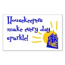 Housekeeper Appreciation Rectangle Decal