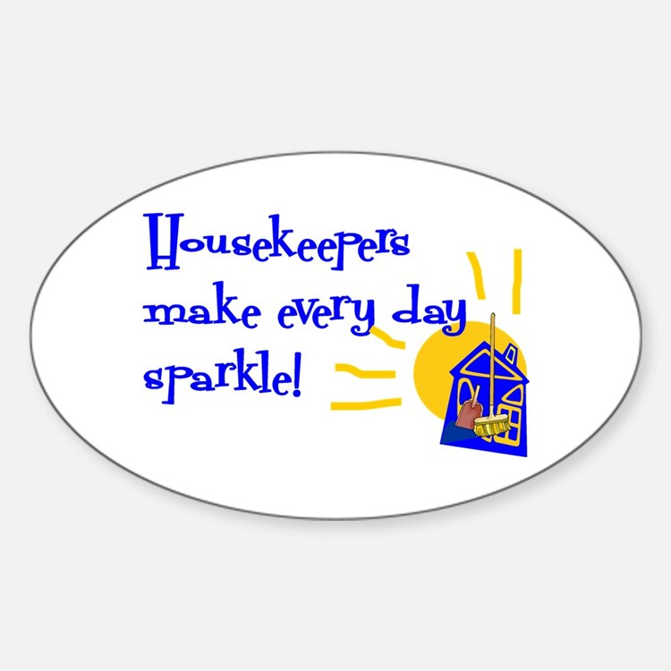 Housekeeper Appreciation Oval Decal