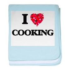 I love Cooking baby blanket