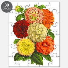Summer Dahlias Puzzle