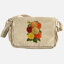 Summer Dahlias Messenger Bag