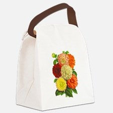 Summer Dahlias Canvas Lunch Bag