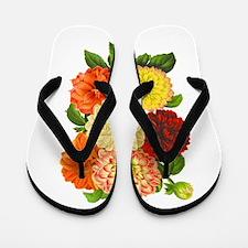Summer Dahlias Flip Flops