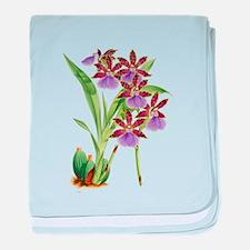 Zygopetalum-clayi Purple Orchid baby blanket