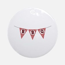 BBQ Gingham Flags Ornament (Round)