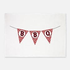 BBQ Gingham Flags 5'x7'Area Rug