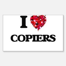 I love Copiers Decal