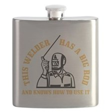 ATTENTION! THIS WELDER HAS A BIG ROD AND KNO Flask