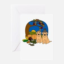 Yellow Lab Thanksgiving Greeting Card