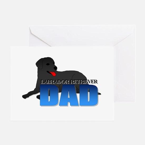 Labrador Retriever Dad Greeting Card