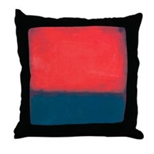 ROTHKO RED AND BLUE Throw Pillow