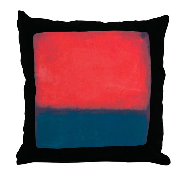 ROTHKO RED AND BLUE Throw Pillow by ThingsCollectable