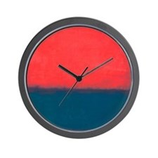 ROTHKO RED AND BLUE Wall Clock