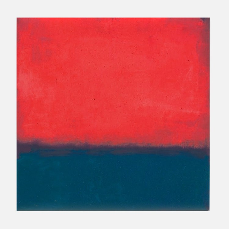 ROTHKO RED AND BLUE Tile Coaster