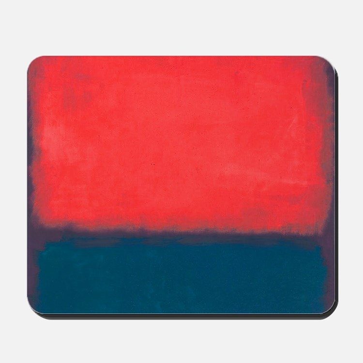 ROTHKO RED AND BLUE Mousepad