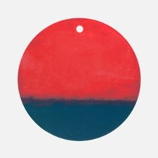 ROTHKO RED AND BLUE Ornament (Round)