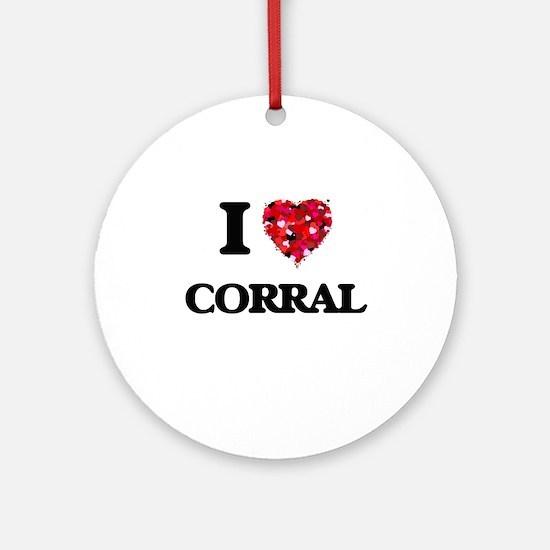 I love Corral Ornament (Round)