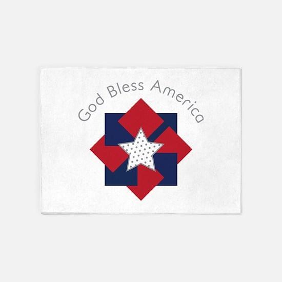 God Bless America 5'x7'Area Rug