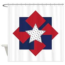 American Square Wreath Shower Curtain