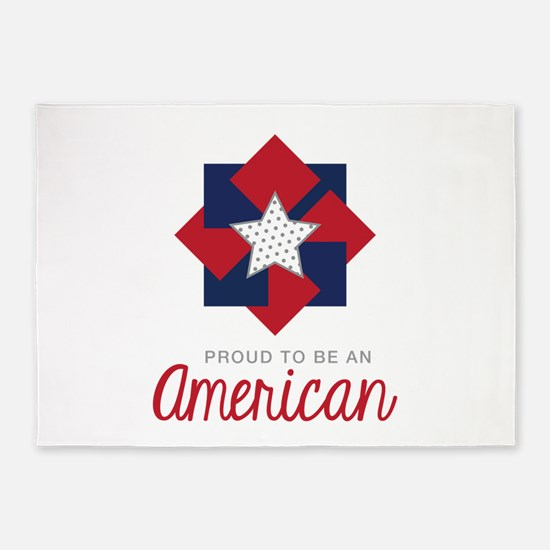 Proud To Be An American 5'x7'Area Rug